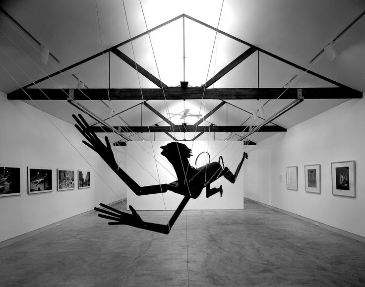 Stellarc installation, Sherman Gallery, 1992. ©Photo by Eric Sierins.