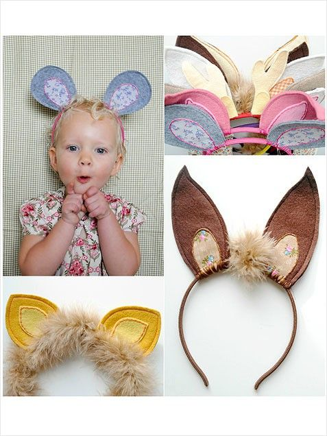 DIY adorable ear headbands to sew for the kids
