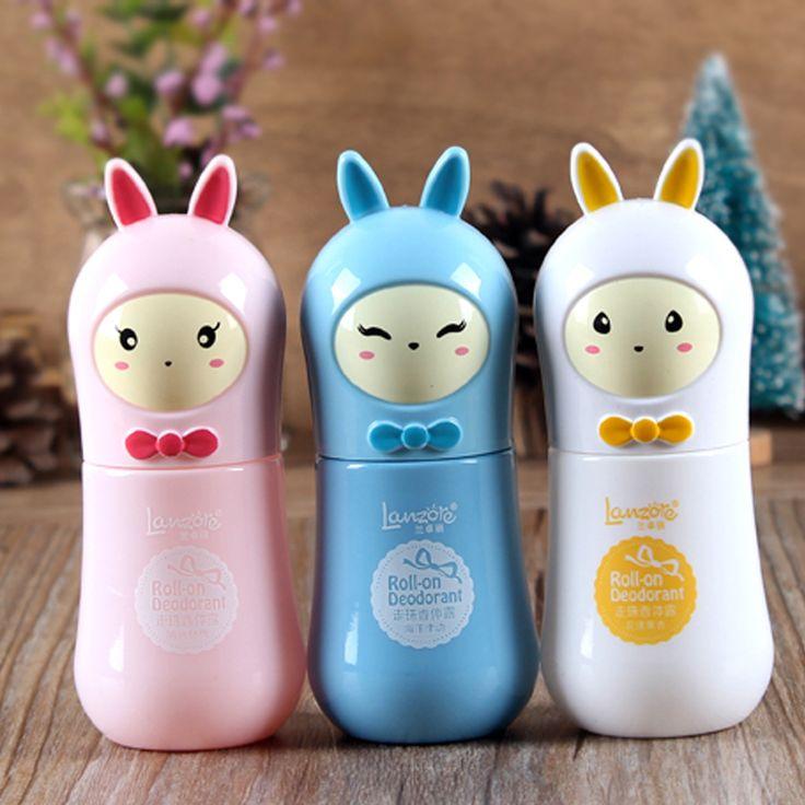 Mignon lapin extraits botaniques anti-transpirant déodorant à supprimer corps odeur liquide Lotion Parfumée Pour Le Corps couleur aléatoire RP1