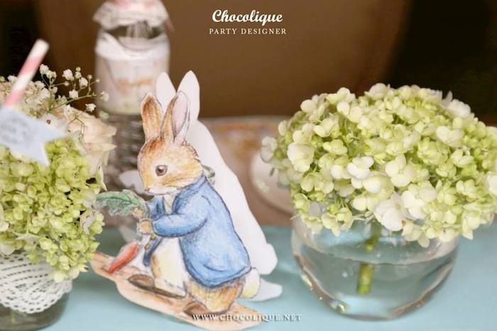Peter Rabbit themed baby shower via Kara's Party Ideas KarasPartyIdeas.com Decor, printables, favors, desserts, food, and more! #peterrabbit #peterrabbitparty #peterrabbitbabyshower (5)