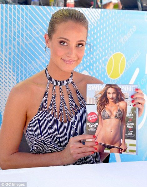 Hannah has appeared in the last four Sports Illustrated Swimsuit Issues, grabbing the cover (pictured) in 2015