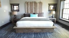 Imagine time spent in the elements stripping down and giving the wood a noticeably pitted and smoothed natural feel. This solid wood bed frame is designed, built, and finished with a modern rustic beach feel in mind. Hand weathered, distressed  1 1/2 thick fir solid wood with a customized wax finis