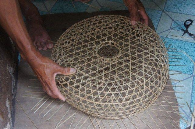 Bobo Fish Trap Weaving Cistelleria Bamboo Weaving