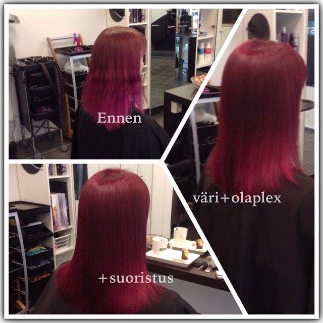 #olaplex #redhead #violet #longhair made By Anu Rautio