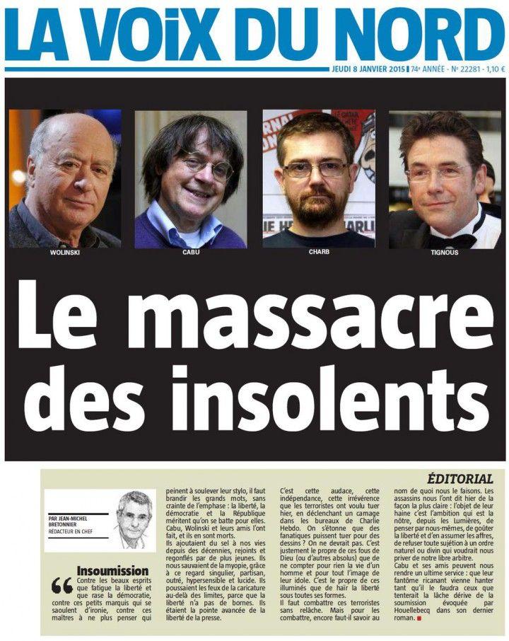 Charlie Hebdo Une La voix du nord