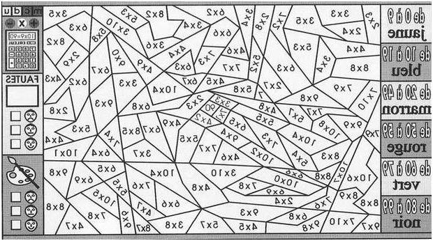 13 Agreable Coloriage Magique Multiplication Ce1 Stock Coloriage
