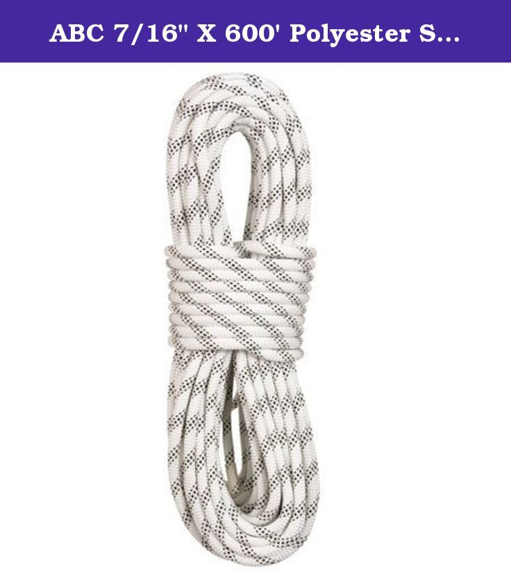 "ABC 7/16"" X 600' Polyester Static Rope White. The standard for work and rescue. ABC's 100% polyester do-it-all static rope resists water absorption for all conditions performance. Polyester is the material of choice for haul system efficiency on big walls, big jobs, and rescue. Better abrasion resistance compared to Nylon. It is also a great choice for high traffic use and rappelling."