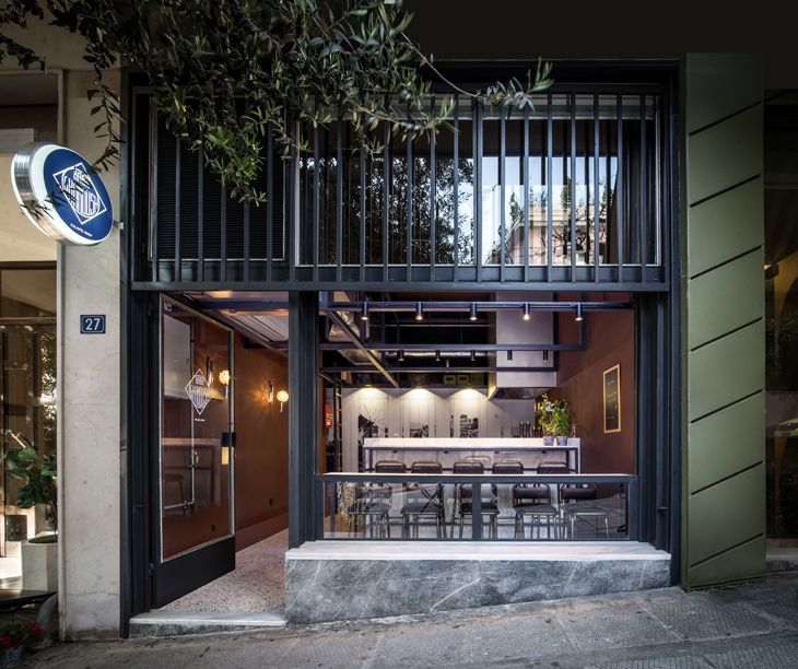 ARCHISEARCH.GR - BABA GHANOUSH: A FALAFEL SHOP INDUCTED IN THE GROUND FLOOR OF A POLYKATOIKIA IN PAGKRATI BY PLAINI & KARAHALIOS ARCHITECTS
