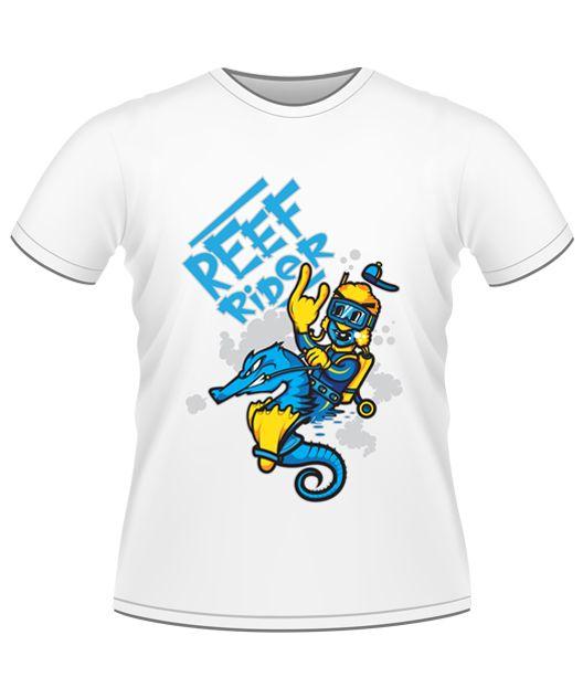 Children's T-shirt REEF RIDER White