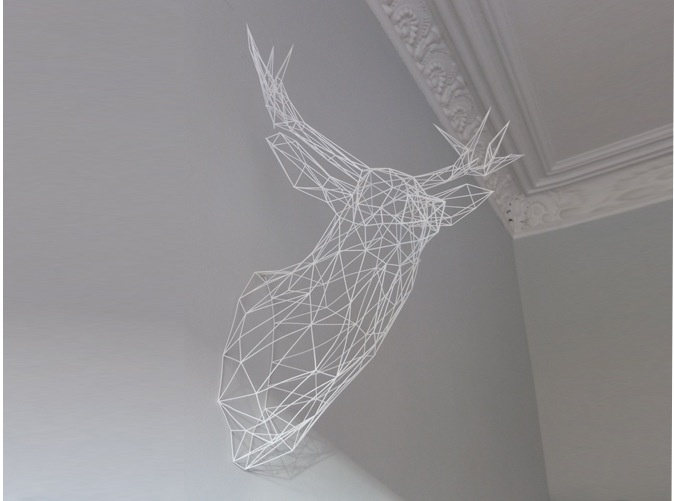 3D printed stag sculpture