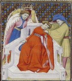 Giovanni Boccaccio, De Claris mulieribus; Paris Bibliothèque nationale de France MSS Français 598; French; 1403, 152r. http://www.europeanaregia.eu/en/manuscripts/paris-bibliotheque-nationale-france-mss-francais-598/en