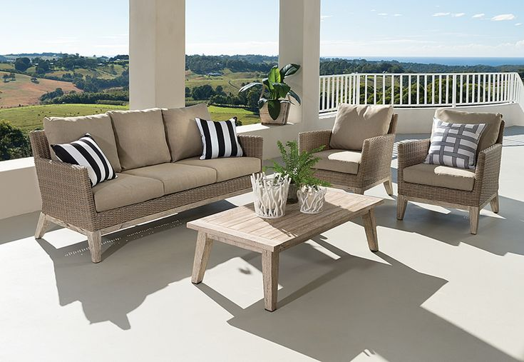 Gryphon 4 Piece Outdoor Lounge Setting | Super A-Mart