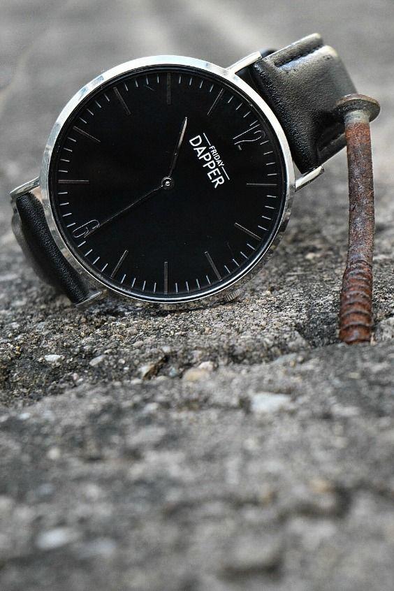 Black/Black Dapper watch