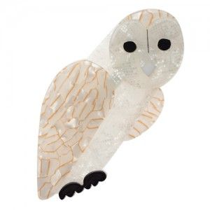 Erstwilder Miah Masked Owl (Cream Resin Brooch)