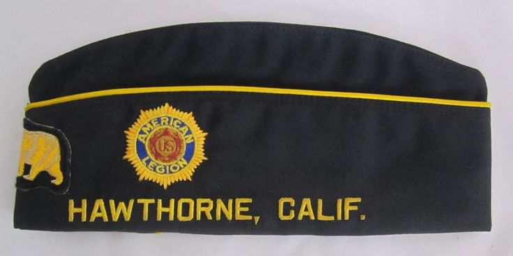 Vintage 314 AMERICAN LEGION HAWTHORNE CALIFORNIA GARRISON MILITARY CAP HAT 7 1/8
