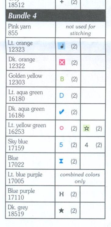Cross-stitch Wonderous Butterflies, part 10... color charts on parts 8, 9 & 10