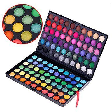 120 couleurs professionnelle éblouissante mates et de miroitement 3in1 fard à paupières palette de maquillage cosmétique – EUR € 11.69