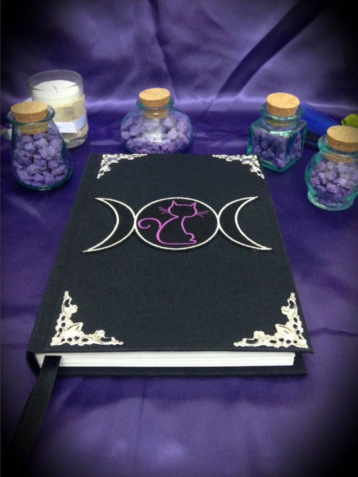 "Libro delle Ombre ""Triple Moon"" by LittleSorcerer on Etsy"
