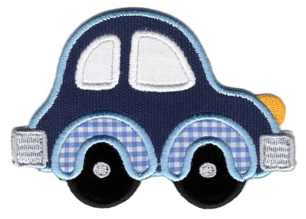 "Car Iron-On Applique Patch -  Size: 2-3/4"" x 4"" (7 x 10 cm) - $5.49"