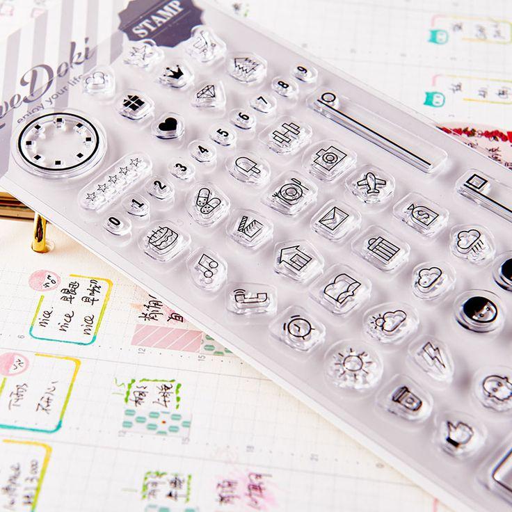 Dokibook 2016 nouvelle maison bricolage Transparent Seal Stamp Scrapbook Planner Agenda journal bricolage pièces de rechange créative mignon dans Porte-badges & accessoires de Fournitures de bureau et scolaire sur AliExpress.com | Alibaba Group