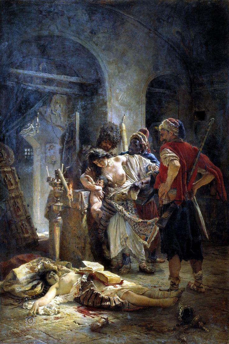 Болгарские мученицы. Картина Константина Маковского (1877 год), изображает зверства башибузуков в Болгарии