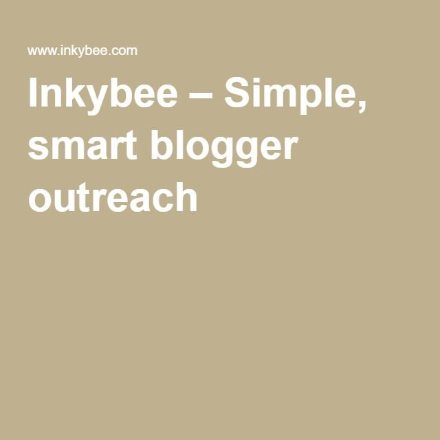 Inkybee – Simple, smart blogger outreach