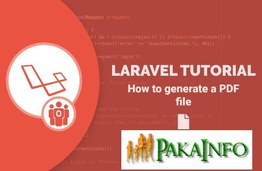 Generate PDF Files using Laravel 5 7 Dynamically Scripts
