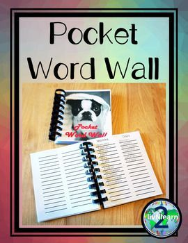 Want to take the class outside for a creative writing prompt? No problem! Want to send a writing assignment home for homework? No worries! These Pocket Word Walls can travel anywhere, anytime!  Completely mobile, you can personalize each to the specific needs of students and content of your classroom!
