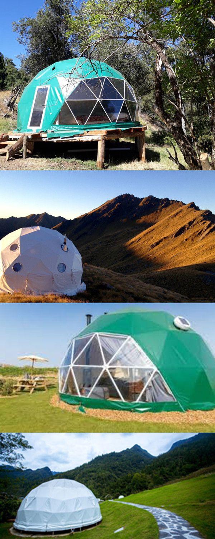Carpa Esferica Carpas Domo Geodesicas De Plastico Exportar A Paises De Todo El Mundo Dome Tent Geodesic Dome Outdoor Backyard