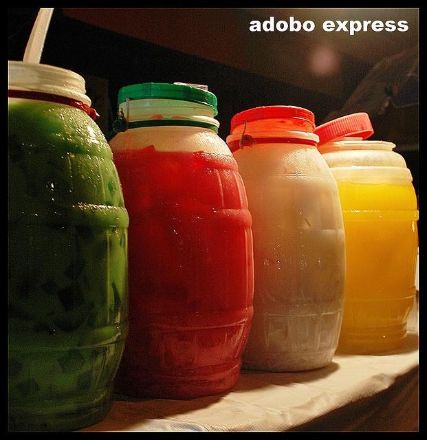 Samalamig ~Cold local drinks in different flavours...Buko Pandan/Gulaman/Buko/Pineapple.