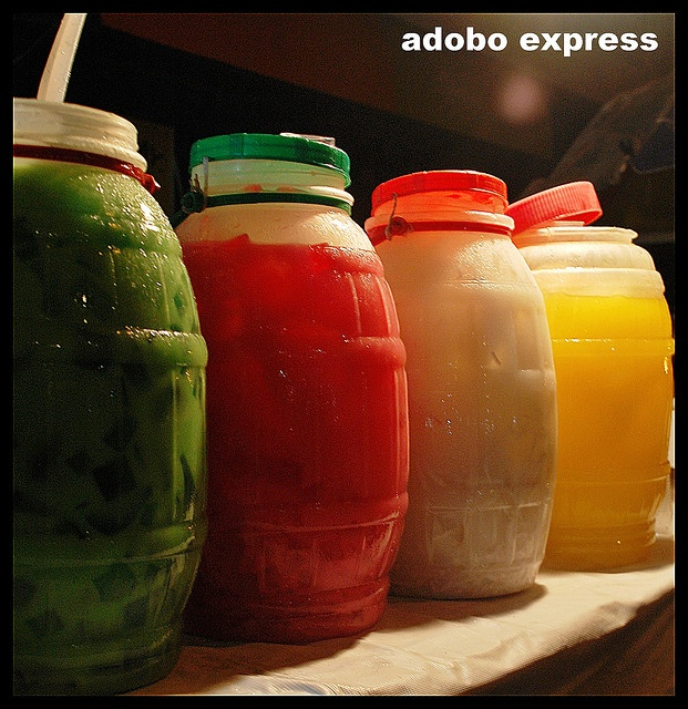 Samalamig ~Cold local drinks in different flavours...Buko Pandan/Gulaman/Buko/Pineapple.