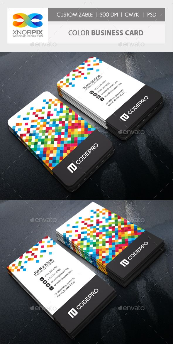 Color Business Card — Photoshop PSD #corporate #dress • Available here → https://graphicriver.net/item/color-business-card/15362257?ref=pxcr