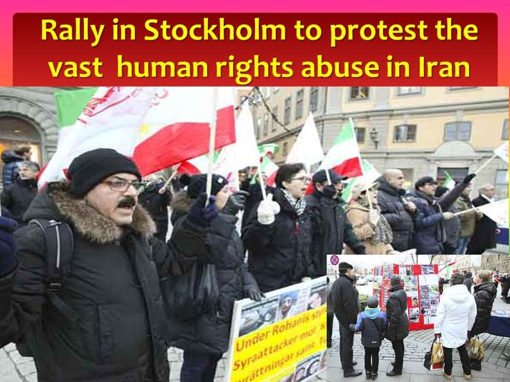 Rally in Stockholm. Iranians protested the vast Human Rights abuse in Iran.