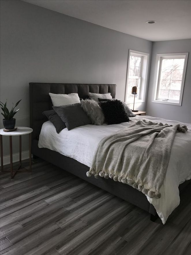 22 The New Fuss About Grey And White Bedroom Ideas Cozy Gray Walls Apikhome Com Black Headboard Bed Gray Bedroom Walls Gray Master Bedroom Remodel Bedroom