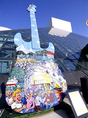 the rock & roll hall of fame in cleveland ohio. should've gone there before i moved to australia.