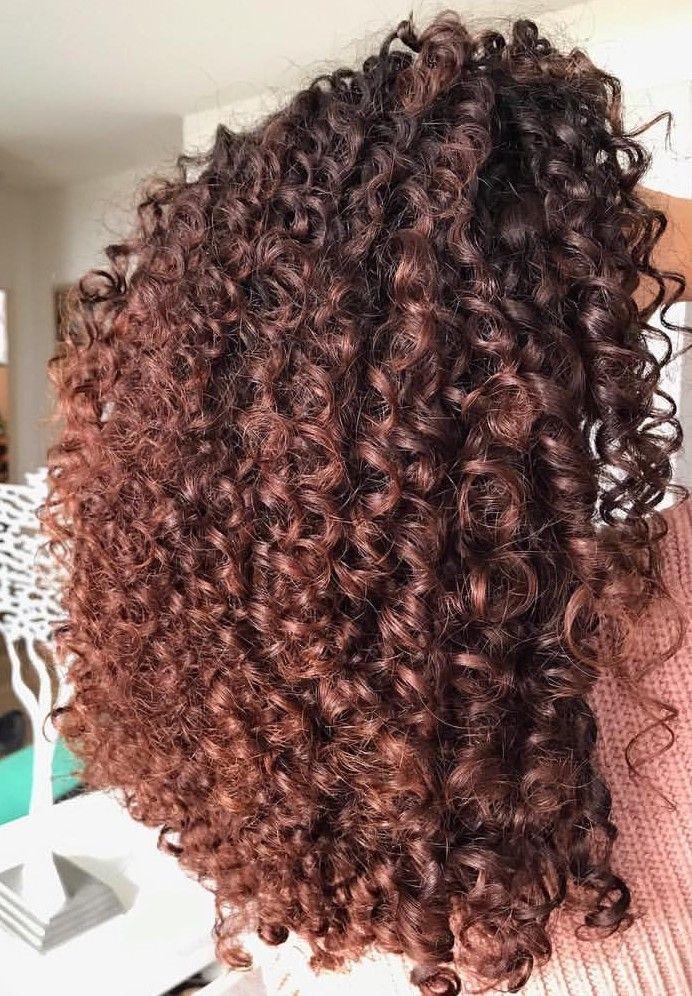 Brown# curly#hair