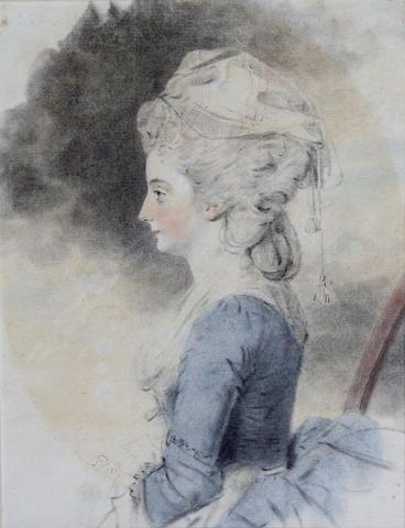 John Downman, ARA (British, 1750-1824) Portrait of a lady