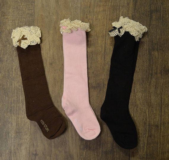 Hey, I found this really awesome Etsy listing at https://www.etsy.com/listing/263740154/girls-boot-socks-knee-high-socks-lace