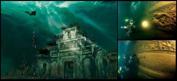 Tak wygląda liczące 1800 lat starożytne Lwie Miasto (Shi Cheng) w Chinach. W 1959 roku znalazło się na dnie jeziora Qiandao, które powstało wskutek spiętrzenia wód rzeki Xin'an. Tama zasila elektrownię wodną o mocy 845 MW. W 2002 roku chińscy archeolodzy rozpoczęli badania zatopionego obszaru, dzięki którym udało się odkryć m.in. opasające Lwie Miasto mury [...]