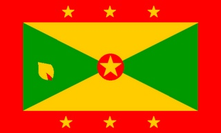 Grenadian Flag - this is were I am from and as the flag it reprsents the whole country