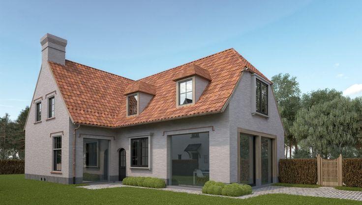 Verkaveling met luxe woningen nieuwbouwen van woningen met bijgebouwen