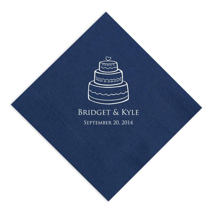 Classic Wedding Cake Napkin | #exclusivelyweddings | #bluewedding