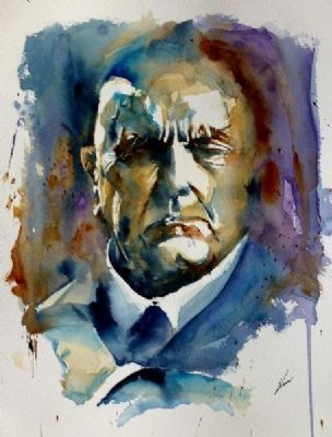 Portrait of Sibelius by Kim Sommerschield http://www.extramoeniart.it/all-arount/acquarelli-creazione-e-ricreazione-intervista-a-kim-sommerschield