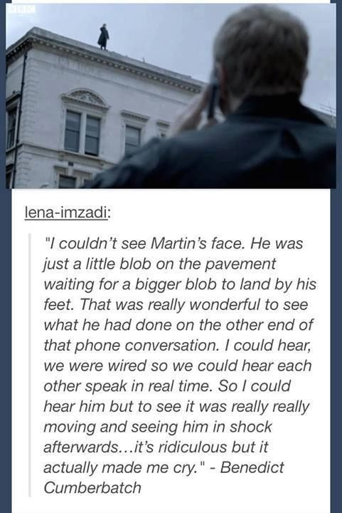 Benedict's Reaction to Martin's Acting During the Fall ---> it's ok Ben, we all cried with ya