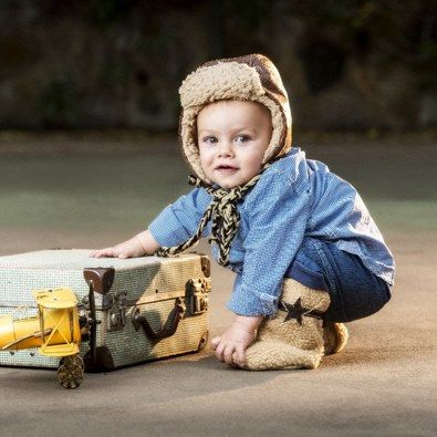 Boys Aviator hat and boots - hand made in South Africa by Myang - www.myang.co.za  Baby  Toddler  Hat and boots