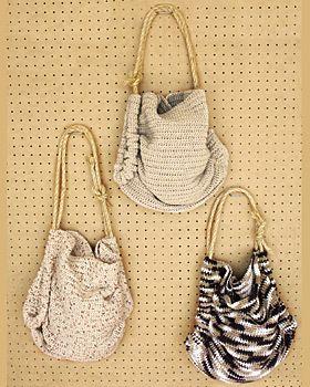 Crochet Summer Totes | AllFreeCrochet.com
