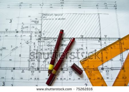 Part of architectural project,architectural plan,technical project,drawing technical letters,architect at work,Architecture planning of inte...