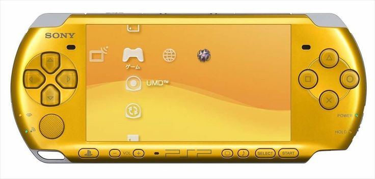 SONY PSP PlayStation Portable Console Bright Yellow PSP-3000BY Wireless LAN #Sony