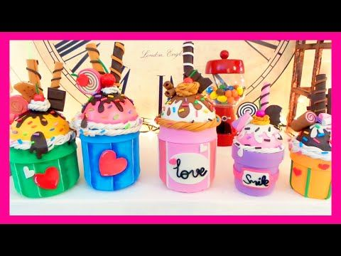 Recicla un tarro de cristal en un vaso con pajita en forma de cupcake 'Me gusta reciclar' | Manualidades