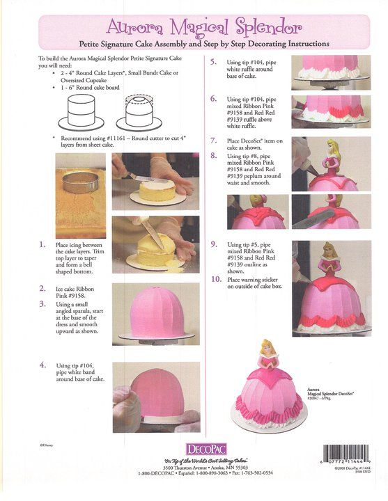 doll cake tutorial instructions